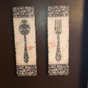 Spoon & Fork Kitchen Wall Decor